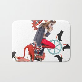 Red Flamingo Trends by Lenka Laskoradova Bath Mat