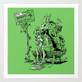 Forgotten scout Art Print