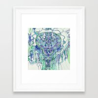 "hydra Framed Art Prints featuring ""hydra"" by Rachna Radar"