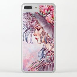 Spring Wind Witch Clear iPhone Case