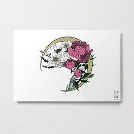 Waning Florals Metal Print