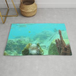 Watercolor Seascape, St John 70, USVI Rug