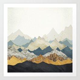 Distant Peaks Art Print