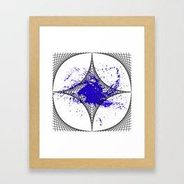 Star Blue Framed Art Print