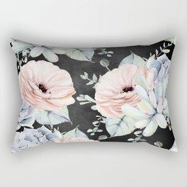 Night Succulents Rectangular Pillow