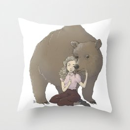 The Bear Spirit Guardian Throw Pillow