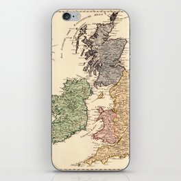 Map Of Great Britain 1795 iPhone Skin