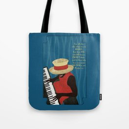 Praise and Worship Piano Player Tote Bag