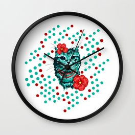 Lady Cat Wall Clock