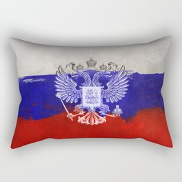 Russia Flag Painted Rectangular Pillow