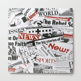 News Branded Metal Print