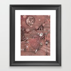 Strawberry Moon in June Framed Art Print