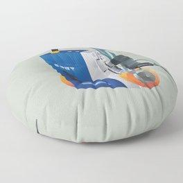 Sony Walkman TPS-L2 with MDR-5A Headphone Polygon Art Floor Pillow
