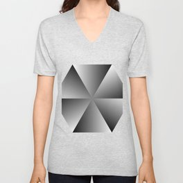 Metal Hexagon Unisex V-Neck