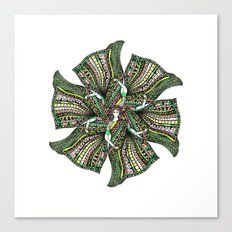 woman with sari mandala Canvas Print