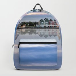 Rainbow houses in Netherlands Backpack