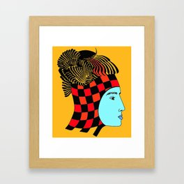The Checkered Lady Framed Art Print