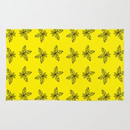 Nature Abstract Yellow Pattern Rug