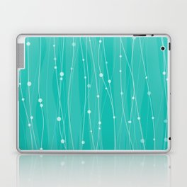 Тurquoise Pattern With Lines And Dots Laptop & iPad Skin