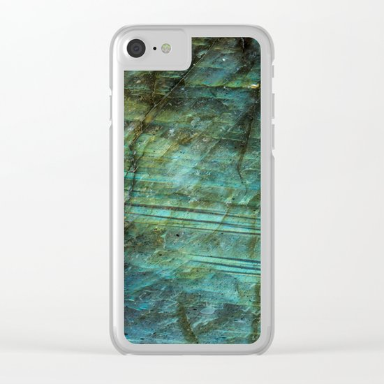 LABRADORITE TEAL Clear iPhone Case