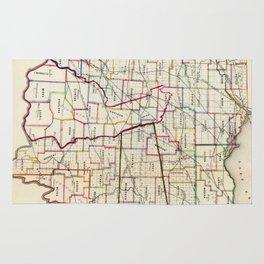Vintage Map of Ohio (1866) Rug