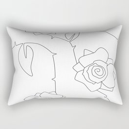 Rose Bush Rectangular Pillow