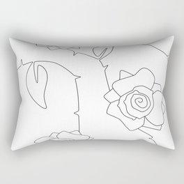 Rose Bush Rectangular Pillow
