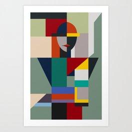 NAMELESS WOMAN Art Print