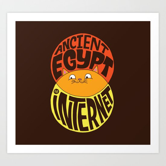 Ancient Egypt, The Internet, Cats Art Print