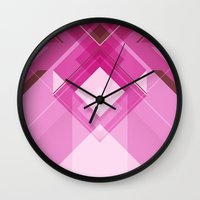 girly Wall Clocks featuring Girly by stormmajki