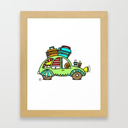 A Roadtrip with My Green Citroen 2CV! Framed Art Print