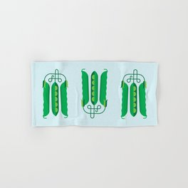 Vegetable: Snap pea Hand & Bath Towel