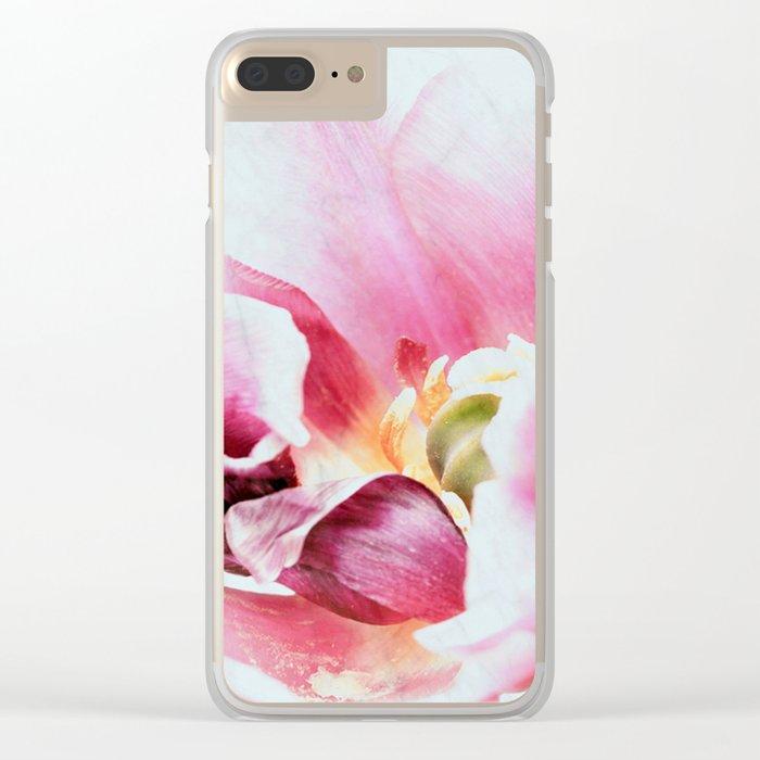 Paradise Tulip Clear iPhone Case