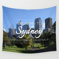sydney Wall Tapestries featuring Sydney, Australia by Raye Allison Creations