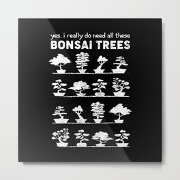 Bonsai Tree Care Penjing Gardening Gift Metal Print