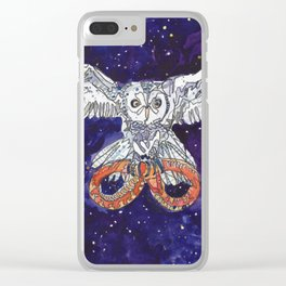 Owl & Snake Clear iPhone Case