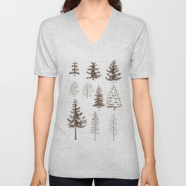 Pines and Spruces Unisex V-Neck