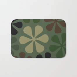 Abstract Flower Camouflage Bath Mat