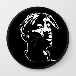 CHRISTMAS GIFTS AND PORTRAIT OF A RAP LEGEND FOR YOU FROM MONOFACES IN 2020 GIFT WRAPPED  Wall Clock