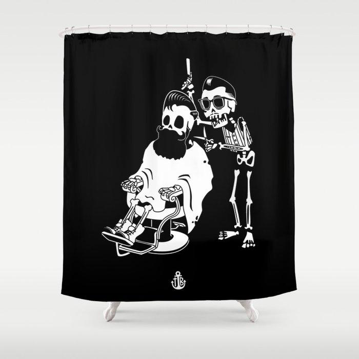 Barbershop Shower Curtain By Tothebonesart