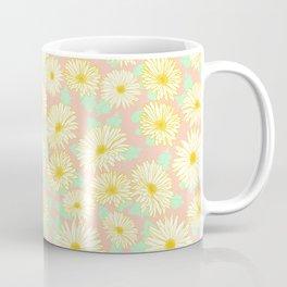 Coral and Yellow Chrysanthemums Coffee Mug