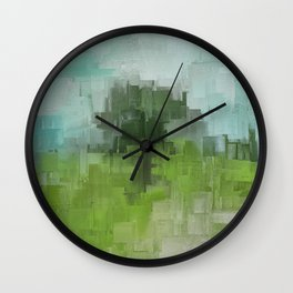 Spring Breeze Abstract Expressions Wall Clock
