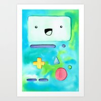 bmo Art Prints featuring BMO by Lauren Reed Art