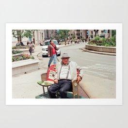 Sitting Man Art Print
