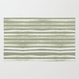 Simply Shibori Stripes Green Tea and Lunar Gray Rug