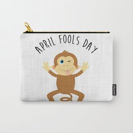 Bounce Monkey Behind You - Happy April Fool's Day Carry-All Pouch