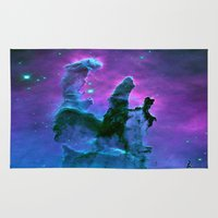 nebula Area & Throw Rugs featuring Nebula Purple Blue Pink by 2sweet4words Designs