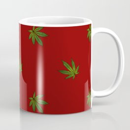 Cannabis Leaf (Mini) - Crimson Coffee Mug