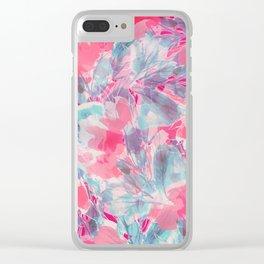 Peach Willows Clear iPhone Case