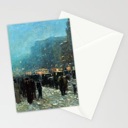 Childe Hassam Broadway and 42nd Street Stationery Cards